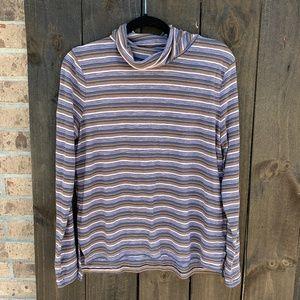 Madewell Whisper Cotton Stripe Turtleneck Medium